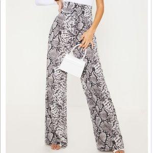 Black & white wide pants